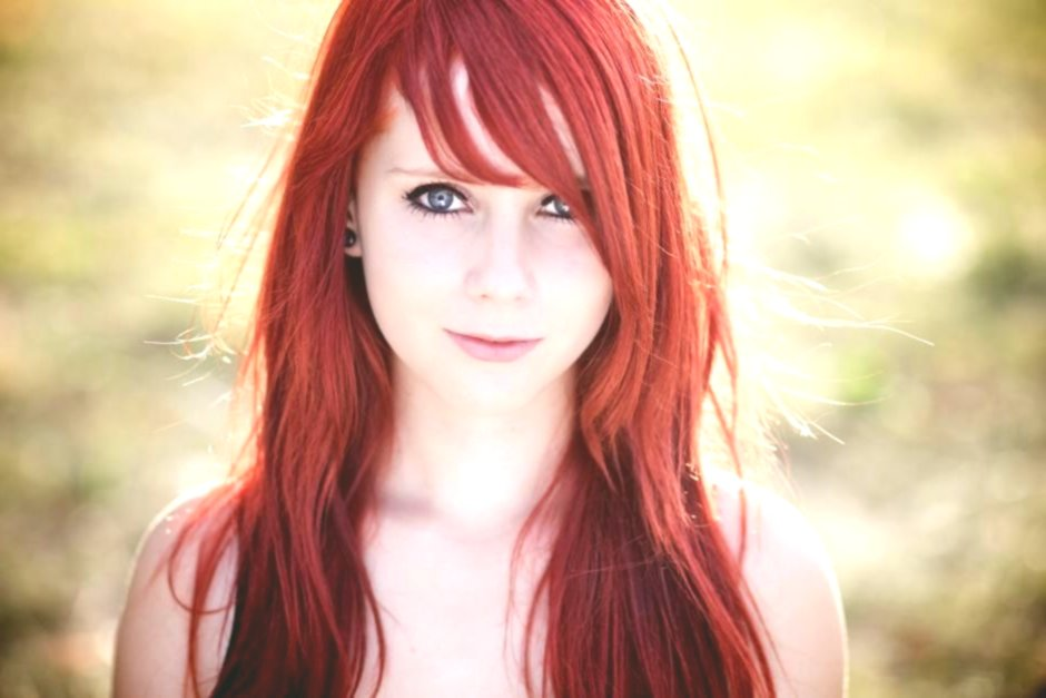 finest blond red hair background-Beautiful blond red hair model