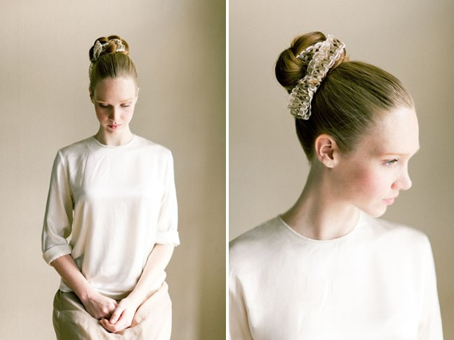 Einfach, Bridal Braid Updo Frisuren: Stoff Bun Hair Tutorial