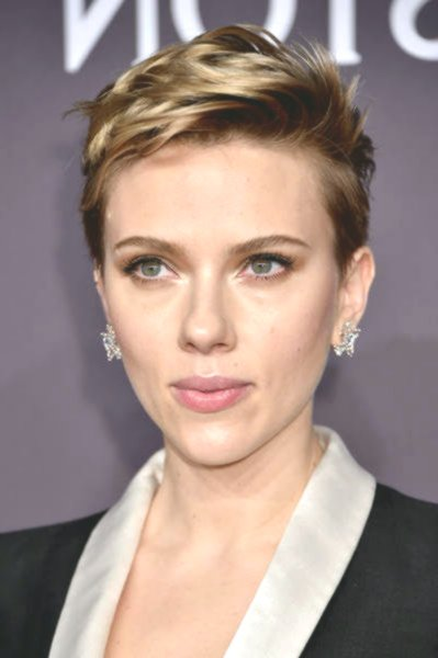 fresh scarlett johansson short hair portrait-Unique Scarlett Johansson Short Hair Gallery