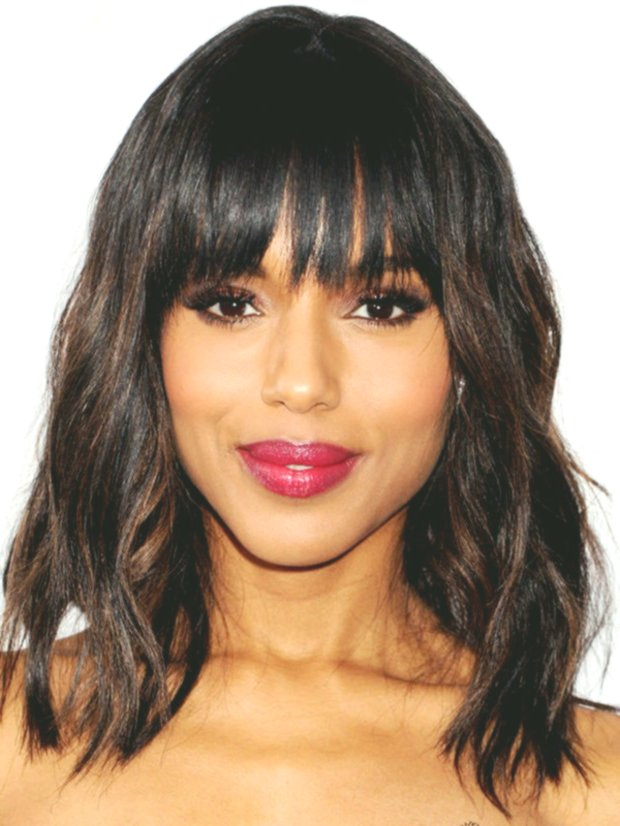 lovely mid-length hair with bangs concept-modern mid-length hair with pony decor