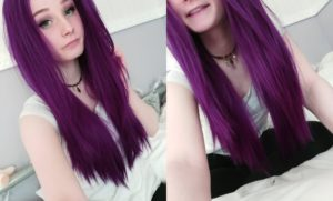 Photo of Excellent violet hair photo
