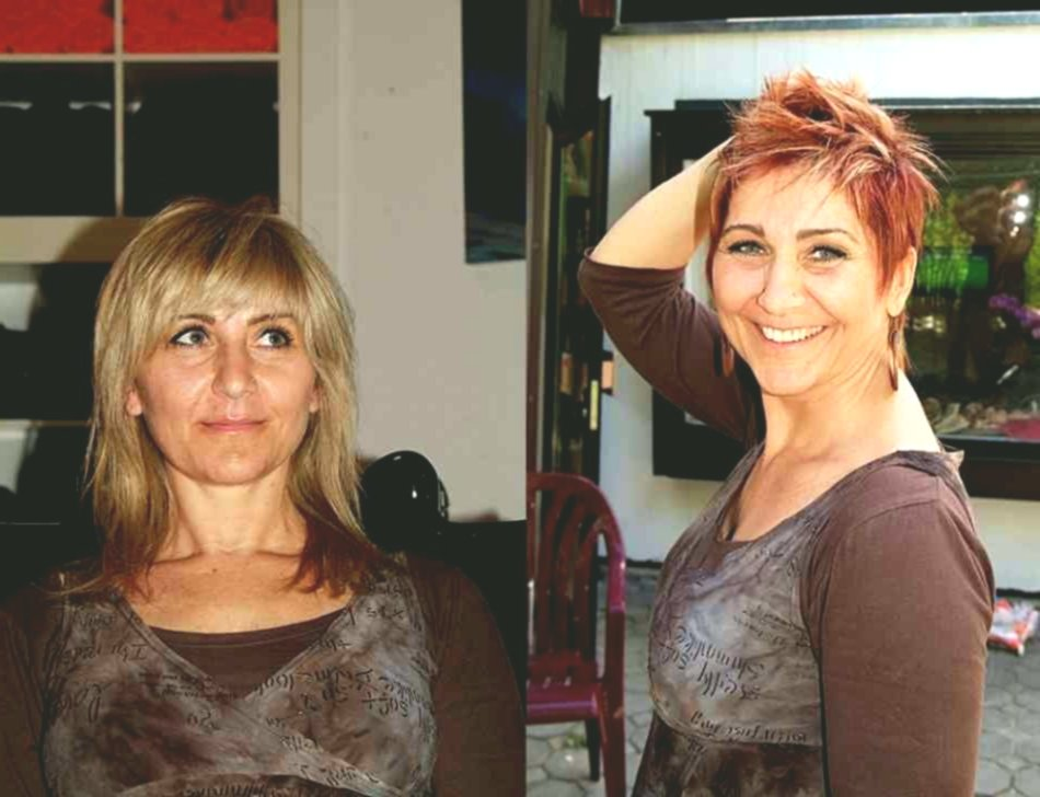 excellent short hairstyles ladies before after background Superb short hairstyles ladies Before After layout