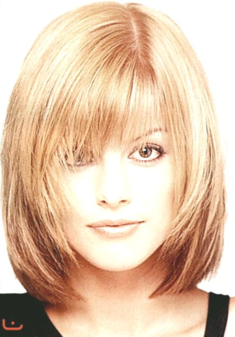 contemporary medium length hair with pony décor-superb mid-length hair with bangs layout