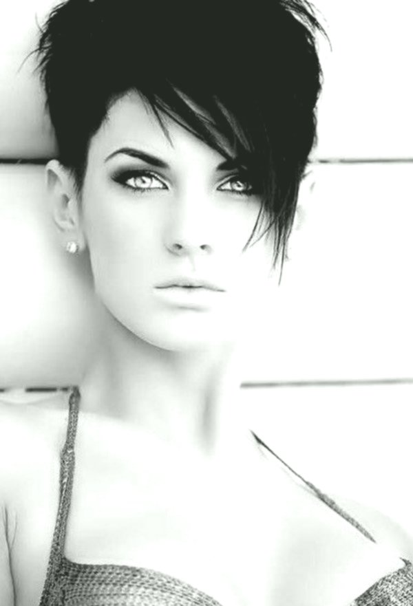 finest short black hair photo picture - Stylish Short Black Hair Model