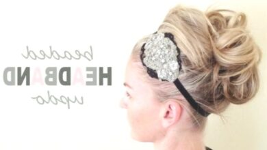 Photo of Updos Tutorial: Beaded Headband Updo for Prom