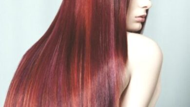 Photo of Burgundy hair color for red hair, brunettes and blondes