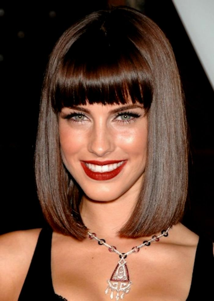 Latest shoulder-length hair with bangs gallery-Superb shoulder-length hair with pony inspiration