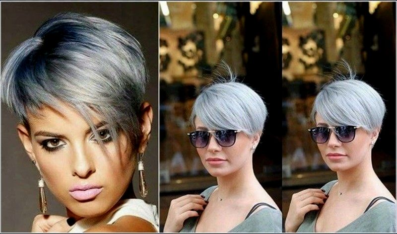 Stylish gray hair blond dye concept - Breathtaking gray hair Blond dyeing ideas