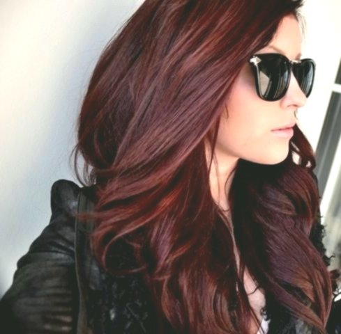 fantastic red-brown hair photo-modern hair red-brown photography