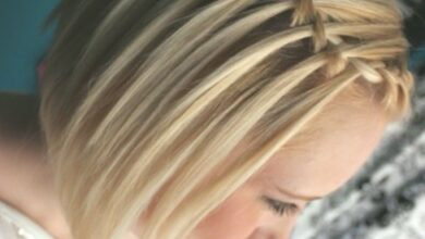 Photo of Waterfall Braid with short hair: French braided hairstyles