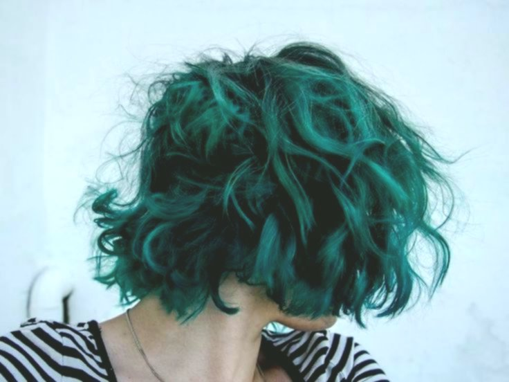 wonderfully stunning green hair color concept - New Green hair color design