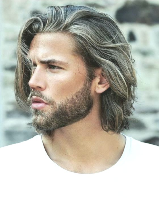 Fancy Long Hair Men's Styling Construction Layout-Charming Long Hair Men's Style Wall