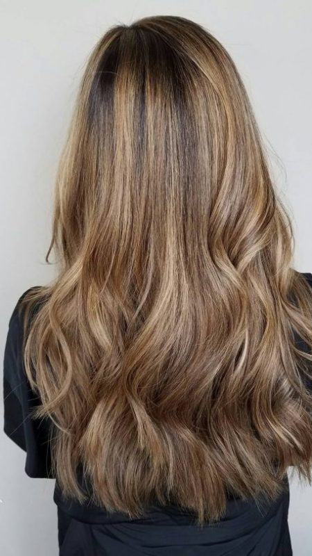 Hair highlights and layers