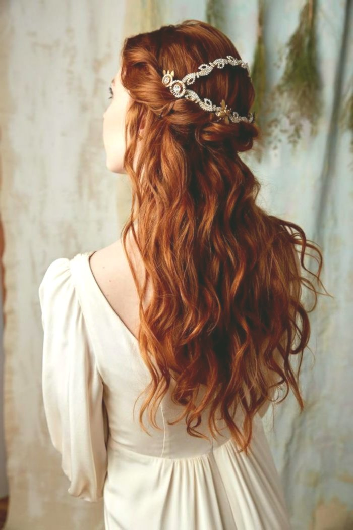 stylish blond red hair photo-Beautiful blond red hair model