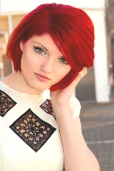 terribly cool hair dyeing red portrait-Stunning hair-dyeing red wall