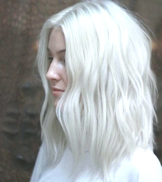 beautiful white hair color. image-inspirational. white hair-color wall