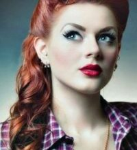 Photo of Fantastic 50's years hairstyle model