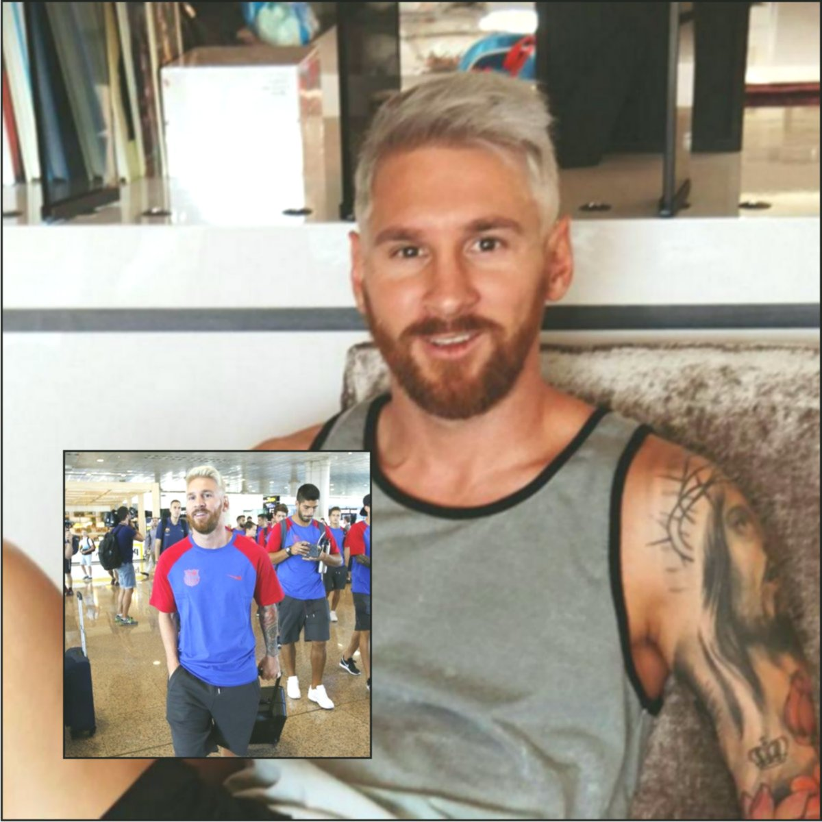 Messi New Look 2019 Platinum Blonde Hairstyles For Men