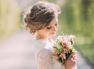Photo of Fantastic wedding hairstyles with flowers decoration