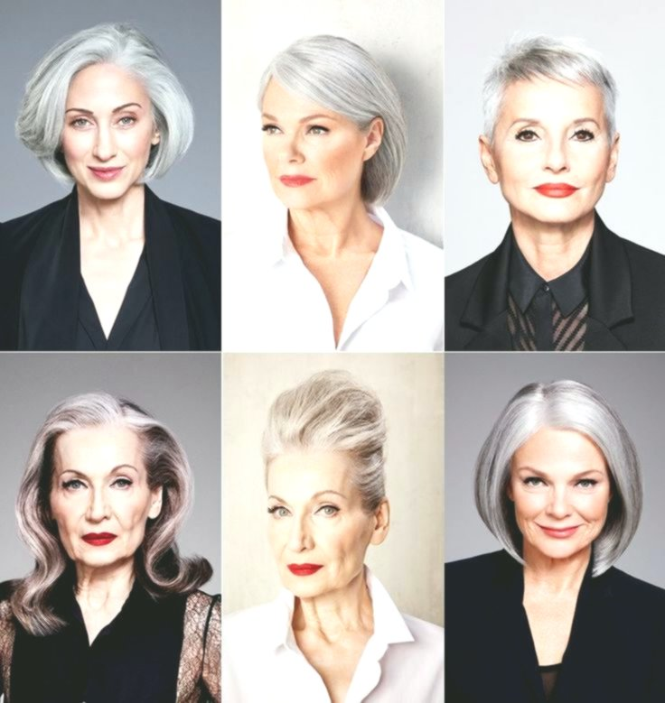 best hairstyles for gray hair online-Stylish Hairstyles For Gray Hair Collection