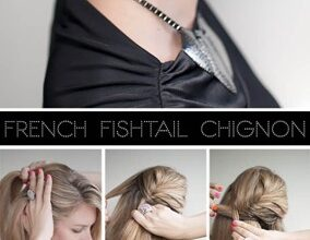 Photo of Fishtail braided Chignon hairstyles