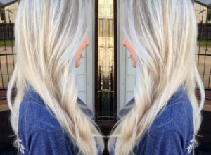 Photo of Beautiful platinum blonde hair color layout