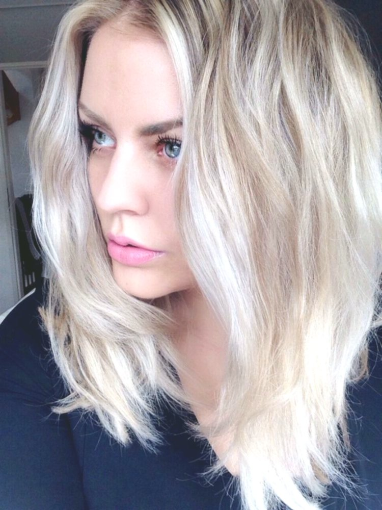 nice hair color silverblond design-new hair color silverblond photo