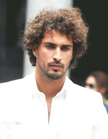Luxury Men's Curls Lure Collection-Fancy Men's Hairstyles Curl Construction