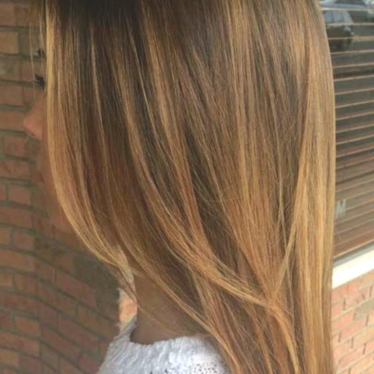 Best brown hair with blond strands model-Stylish brown hair with blond strands pattern