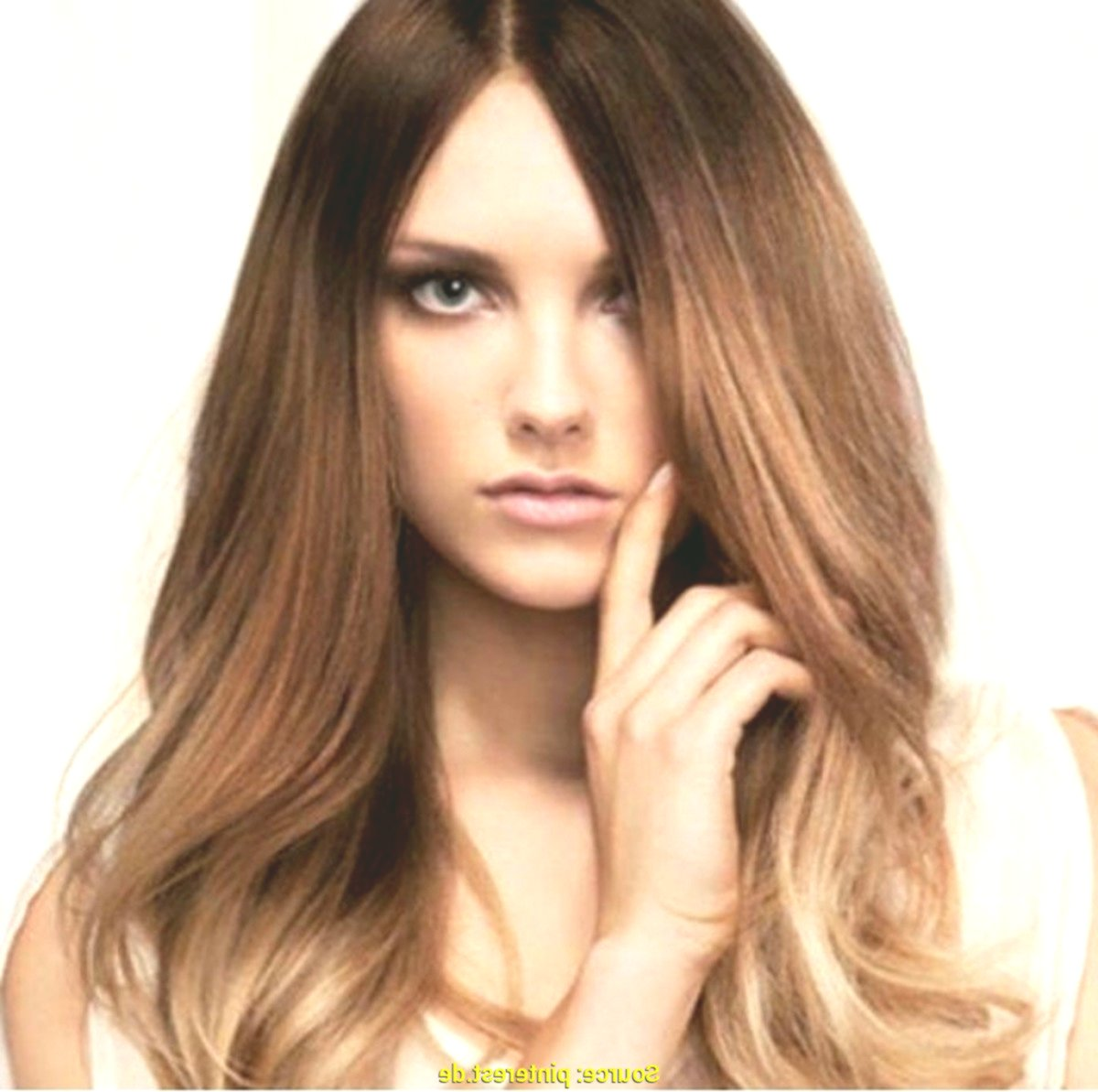 modern brown hair blond dyeing picture Stylish Brown Hair Blond Dyeing Photography