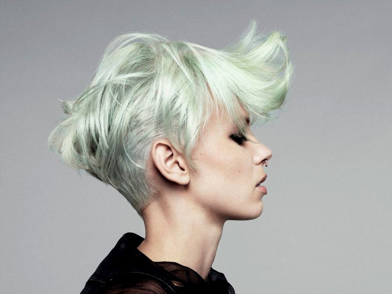 beautiful black hair blonde dye model top Black hair blond dyeing photo