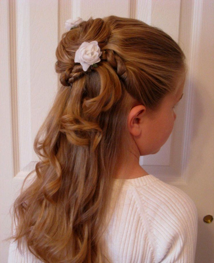 lovely flower girl hairstyles portrait elegant flower girl hairstyles portrait