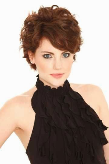stylish short hairstyle natural curls pictures design-Terrific short hairstyle natural curls pictures decoration