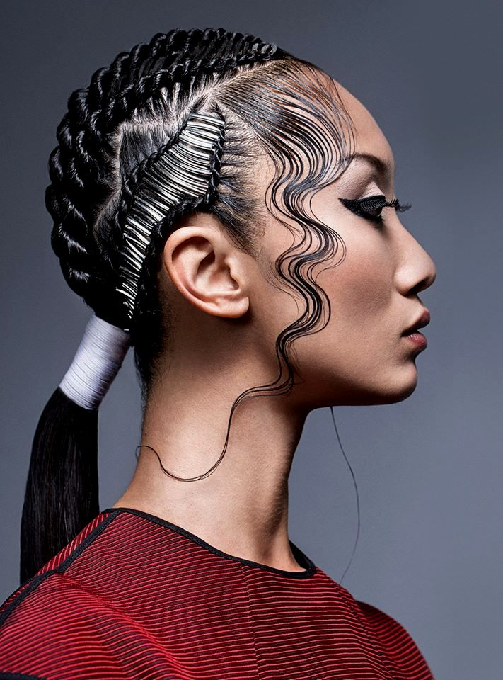 finest hair braid learning background-Cool Hair Braiding Learning Model