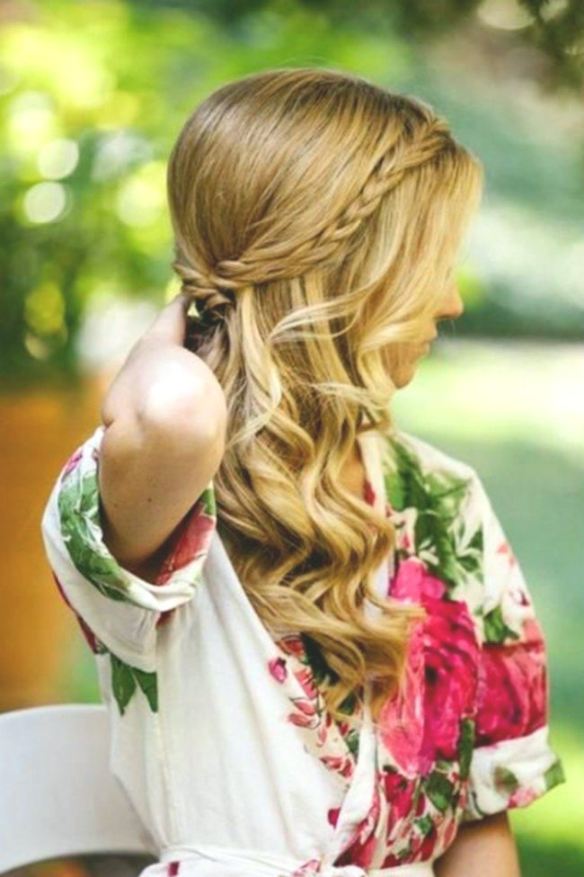 beautiful open hair wedding decoration-Beautiful open hair wedding model