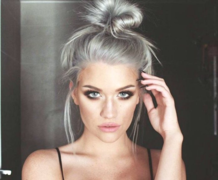 terribly cool hair color blond gray image Stylish Hair Color Blonde Gray Pattern