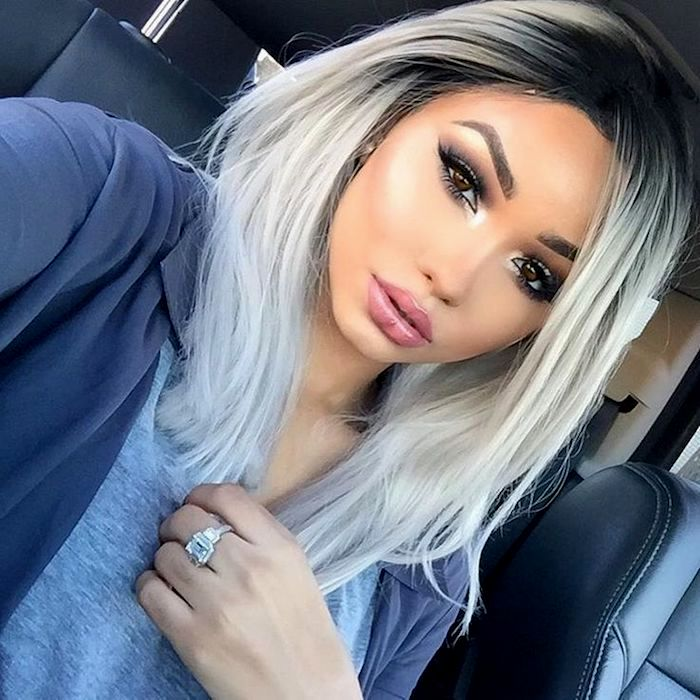 modern gray hair blond dye inspiration-Breathtaking gray hair blond dyeing ideas