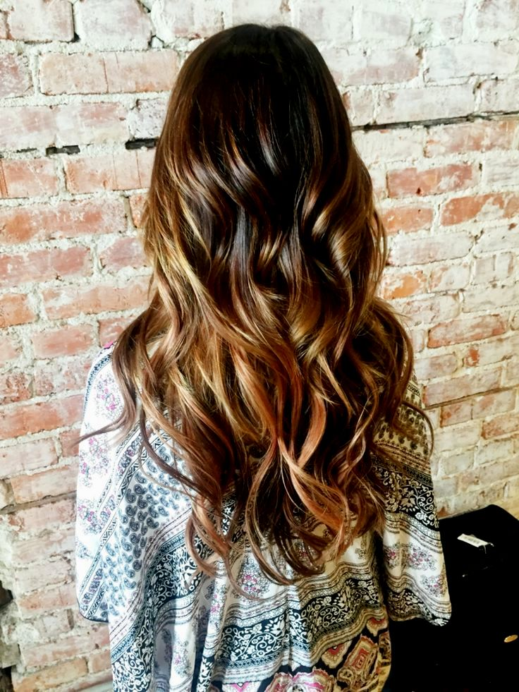 terribly cool dark brown hair with light brown strands design-Lovely dark brown hair with light brown strands model