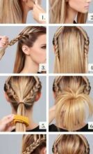 Photo of Cool mid-length hair style instruction pattern