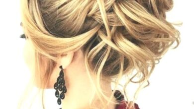 Photo of 10 updos for mid-length hair by top salon stylists