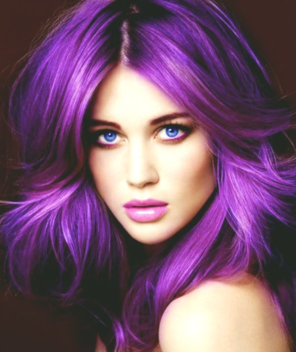 Lovely Violet Hair Color Photo Picture Superb Purple Hair Color Collection