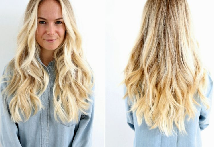 Stylish blonde hair strands background-Lovely blonde hair strands wall