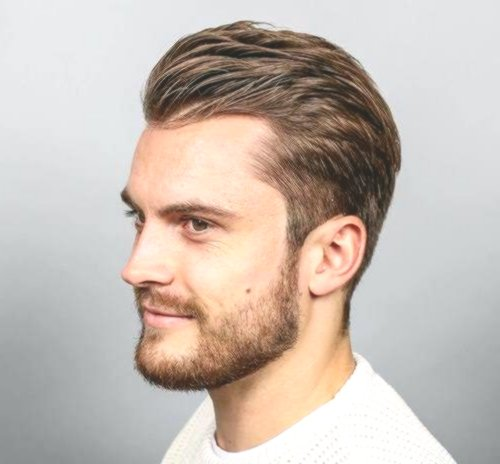 unique secretive hairstyle portrait-Stylish receding hairstyle collection