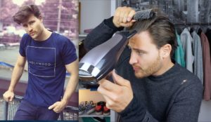 Photo of Stylish Men's Long Hair Styling Pattern