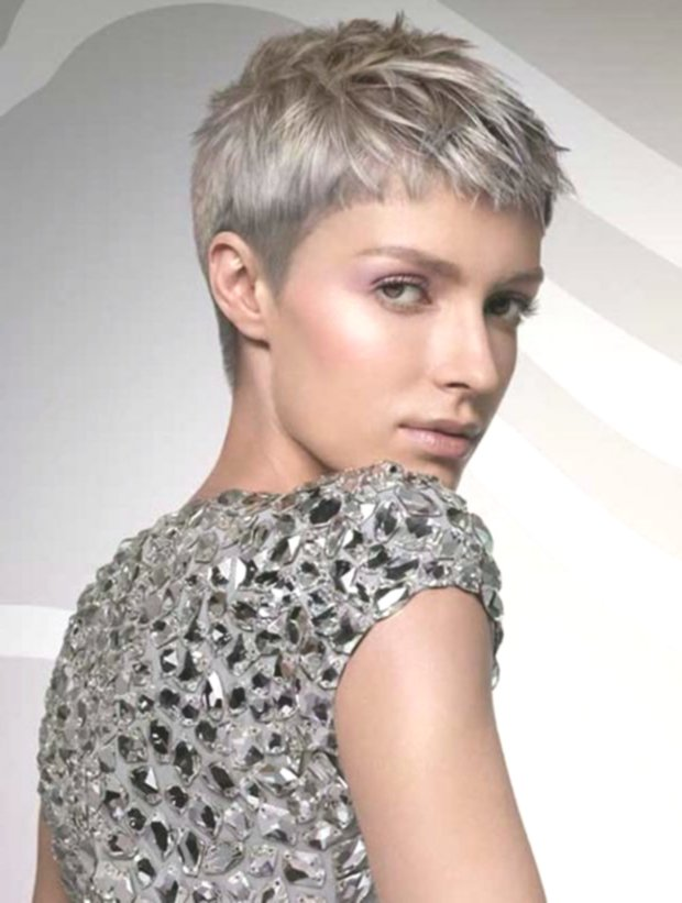 incredibly short-haired blond model-amazing short haircut blond decoration