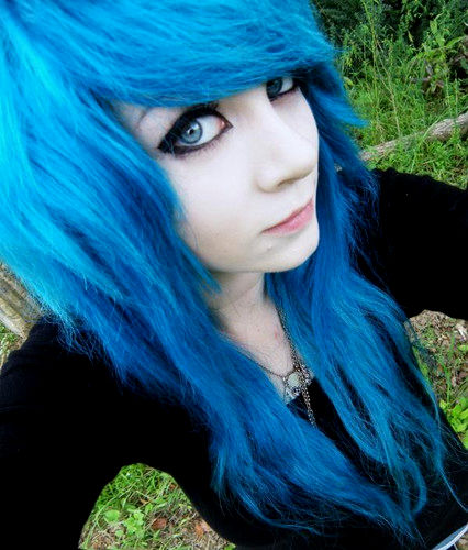 unique hair blue dyeing photo picture - Beautiful hair blue dyeing collection