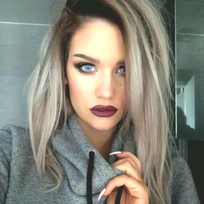 beautiful hair-colored blond gray model-luxury hair colors blond gray model