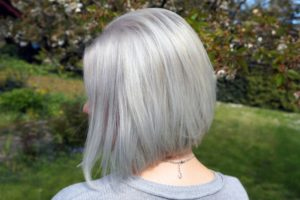 Photo of Charming Silver Blonde Hair Decor