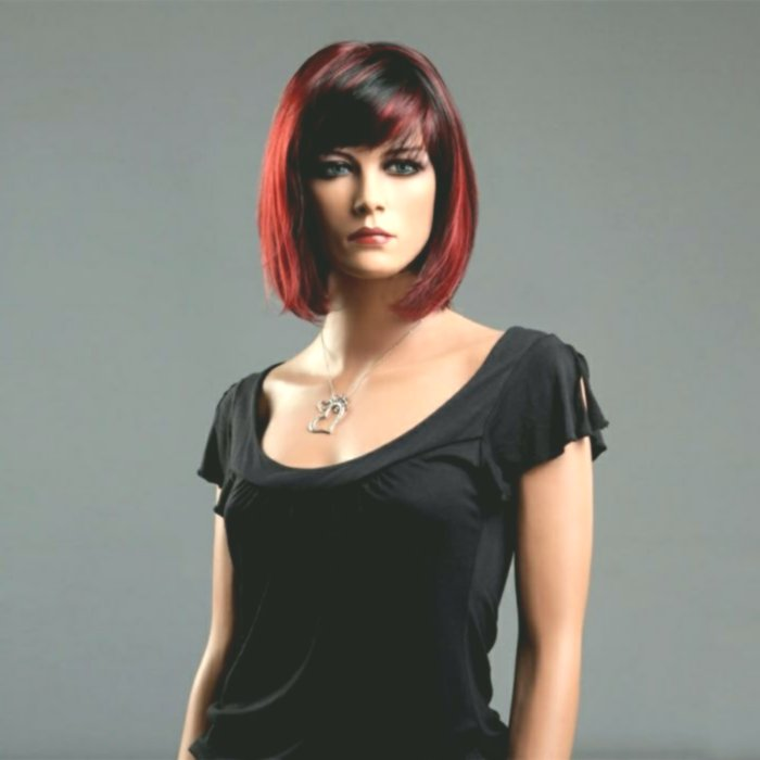 terribly cool red black hair picture-unique red black hair design