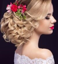 Photo of Amazing Bridal Hairstyle With Flowers Gallery